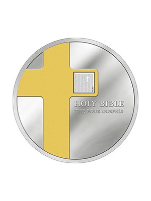 The Four Gospels 1 oz 999 Fine Silver Proof Coin With Nano Chip