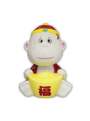 Prosperity Monkey Moneybank - Red