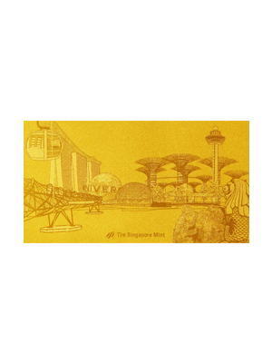 Singapore Attractions Embossed 999 Fine Gold Foil