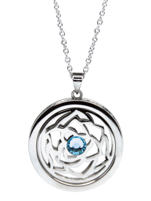 March Aquamarine Birthstone Pendant