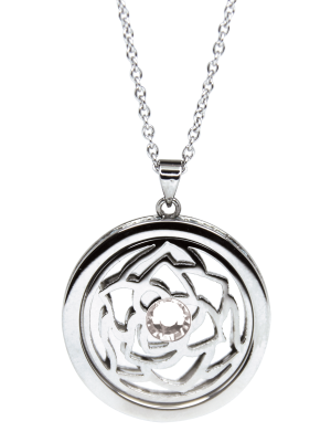 April Diamond Birthstone Pendant