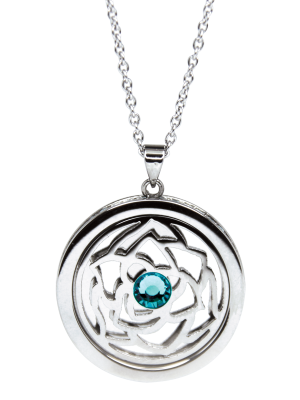 December Zircon Birthstone Pendant