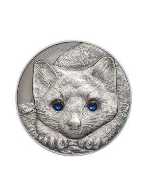 Sable 999 Fine Silver Coin with Swarovski Elements