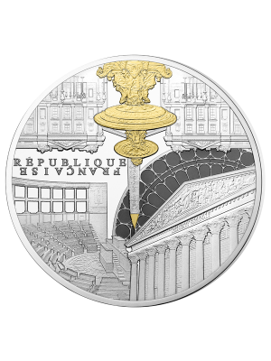 Banks of the Seine 10€ 900 Fine Silver Proof Coin With Rhodium and Gold Deposits