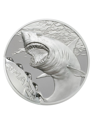 2017 Palau Shark Bite 1oz 999 Fine Silver Proof Coin