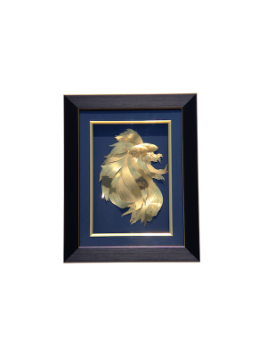 Majestic Betta Fish Gold Foil Frame