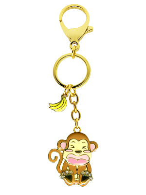 Monkey Zodiac Bag Charm