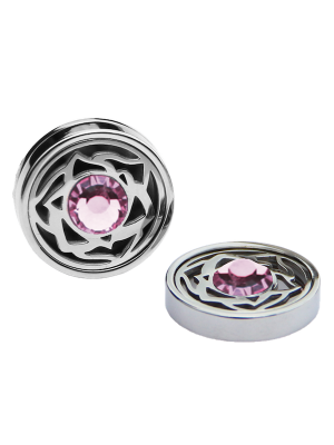 October Tourmaline Birthstone Interchangeable Cufflinks Charm