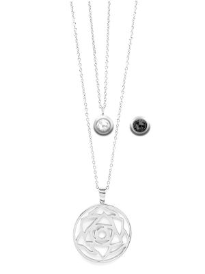 April Birthstone Interchangeable Charm - Double Layered Necklace Set