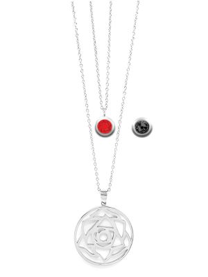 July Birthstone Interchangeable Charm - Double Layered Necklace Set