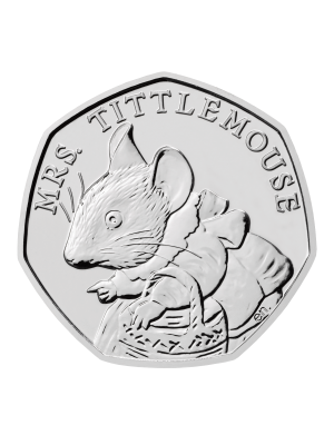 Celebrating Beatrix Potter - Mrs. Tittlemouse Cupro-Nickel BU Coin
