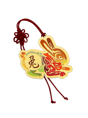 Rabbit Zodiac Bookmark II