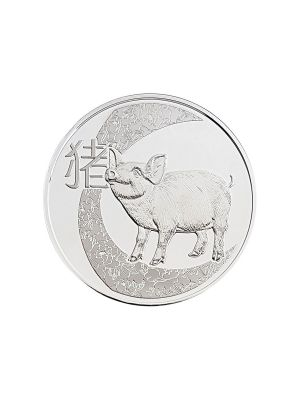 Cambodia Year of the Pig 1oz 999 Fine Silver Proof Coin
