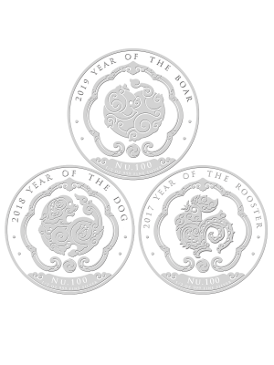 2019 Bhutan Lunar 1/2oz Silver 3-in-1 Coin Bundle