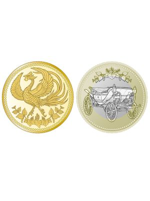 Japan 30th Anniversary of the Enthronement of His Majesty the Emperor Gold + Base Metal 2-Coin Set