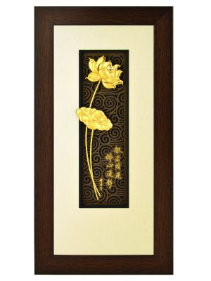 Golden Lotus Gold Foil Frame