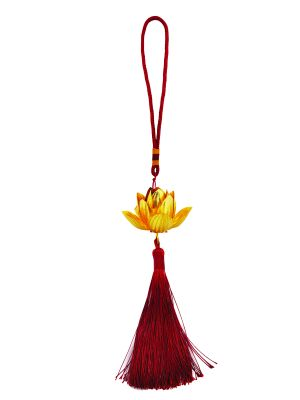 Lotus Tasseled Hanging Charm