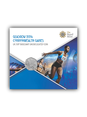 Glasgow 2014 Commonwealth Games 50P Cupro-Nickel Bu Coin