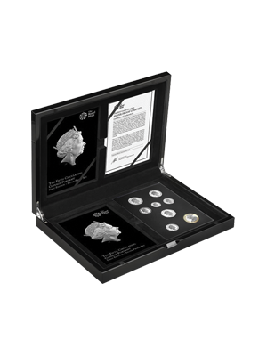 The Fifth Circulating Coinage Portrait - First Editions 925 Silver Proof Set