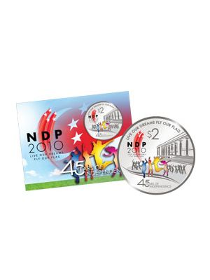 2010 NDP $2 Cupro Nickel Proof-Like Colour Coin