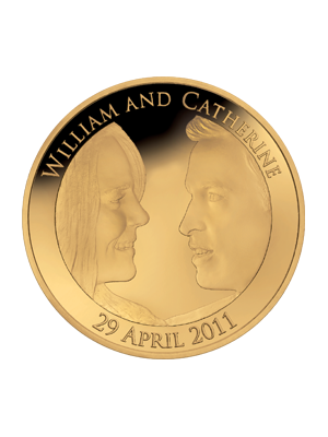 Royal Wedding UK £5 Gold Plated Sterling Silver Coin