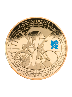 2012 Countdown To Olympics 916 Gold Proof Coin