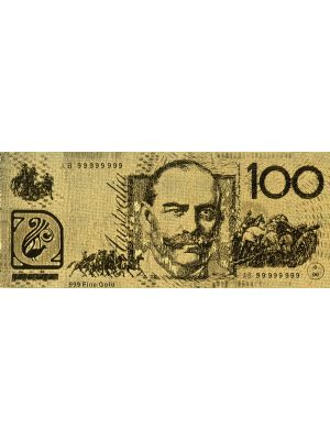 Australia100 Embossed Gold Foil Banknote