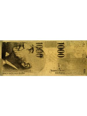 Swiss Franc1000 Embossed Gold Foil Banknote