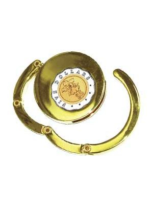 Bag Hanger With $5-Coin (Gold-Plated)
