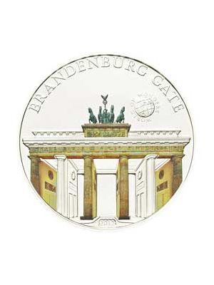 World Of Wonders - BrandenBurg Gate Sterling Silver Proof Colour Coin