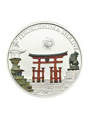 World Of Wonders - Itsukushima Shrine Sterling Silver Proof Colour Coin