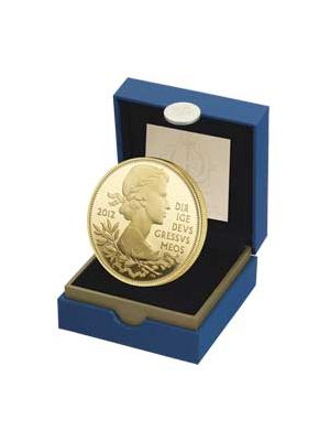 The Queen's  Diamond Jubilee Gold Plated Sterling Silver Proof Coin