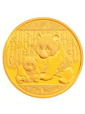 2012 China Panda 1/2 oz 999.9 Fine Gold Bullion Coin