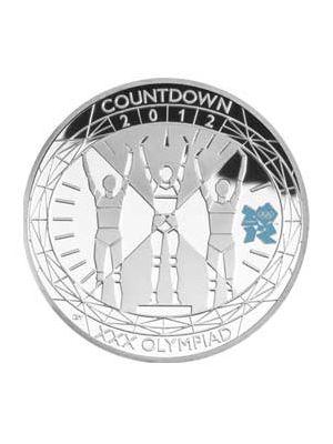 Countdown London Olympic 925 Silver Prf Coin
