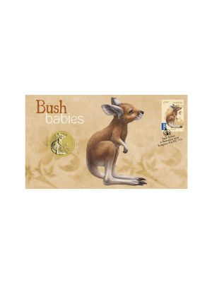 Kangaroo Bush Babies Stamp & Coin Cover