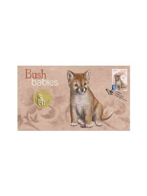 Dingo Bush Babies Stamp & Coin Cover