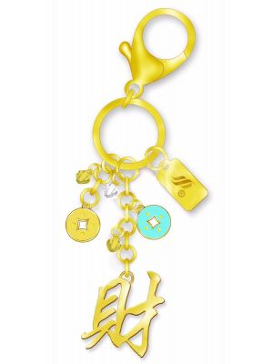 Cai Bag Charm 24K Gold Plated