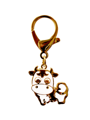 Gold Plated Ox Lunar Charm