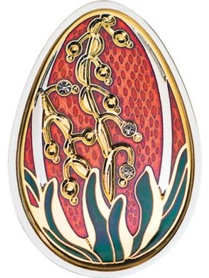 Imperial Eggs in Cloisonné - Red Beauty 20 gm 999 Fine Silver Proof Coin