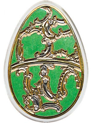 Imperial Eggs in Cloisonné - Olive 20 gm 999 Fine Silver Proof Coin