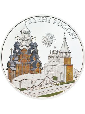 World Of Wonders - Kizhi Pogost Sterling Silver Proof Colour Coin