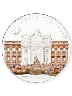 World Of Wonders - Trevi Fountain Sterling Silver Proof Colour Coin