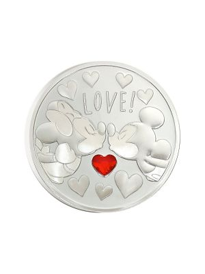 Disney Love Medallion 20gm 999 Fine Silver with Swarovski Crystal