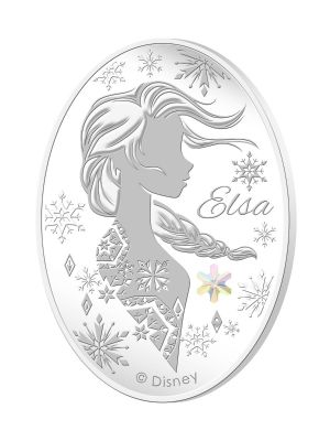 Elsa 1oz 999 Fine Silver Proof Medallion with Snowflake Swarovski Crystal