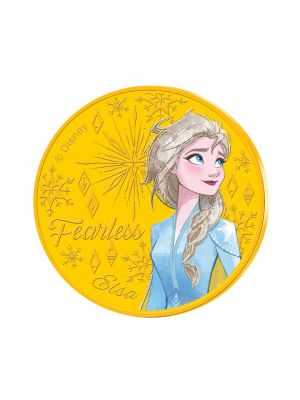 Elsa 24k Gold Plated Colour Medallion