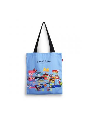 Mickey Makan Time Canvas Tote Bag