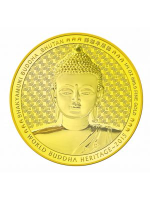 Shakyamuni Buddha Of Bhutan 1/4 oz 999.9 Fine Gold Proof Coin