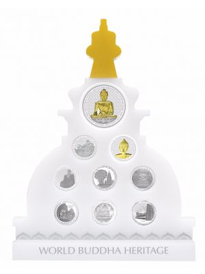 World Buddha Heritage Splendour Silver 9-In-1 Proof Coin Set