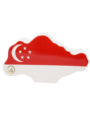 TS $1 Coin Singapore Map Money Bank