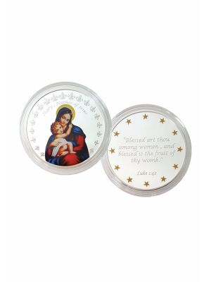 Mother Mary Nickel Plated Medallion